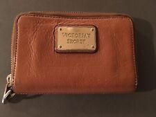 Ladies VICTORIA'S SECRET Coin Purse Tan Leather Gold
