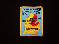 BOY SCOUT  LAKE HURON AREA CNCL CAMPS  FIRST YEAR  1972    MICH