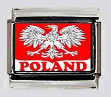 POLAND POLISH Eagle Flag  9mm photo Italian charms for modular link bracelets