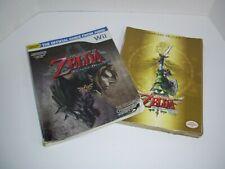 Lot Legend Of Zelda Skyward Sword Premiere Edition Guide ,Twilight Princess Book