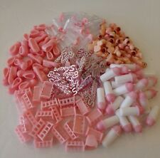 144pcs lot of Baby shower favor,decoration or games in pink  for girls!