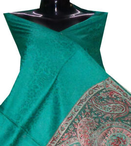 Shawl wrap stole throw couch scarves ethnic designer for men's silk pashmina new