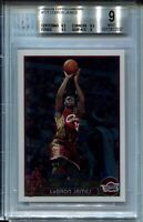 2003 Topps Chrome #221 LeBron James Rookie Card Graded BGS MINT 9 w 9.5s Lakers