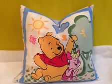 "17"" Square Winnie the Pooh & Piglet Children's Cushion & Inner Pad  NEW"