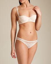 La Perla Camelia Collection 38C L Demi Bra Panty Set White Pink CLEARANCE New