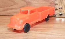 Vintage Wannatoy Plastic Orange Pick Up Truck Toy Car Only -U.S.A.- *Read*