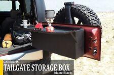 Carrichs | 2007-2018 Jeep Wrangler JK Lockable Tailgate Storage Box Matte Black