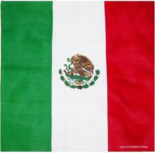 Mexican Flag Bandana Mexico Bandana Scarf Mexico 100% Cotton Bandana Mask 12 PC