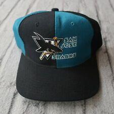 Vintage San Jose Sharks Pinwheel Snapback Hat by Starter 90s Cap Rare