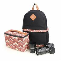 Women DSLR SLR Camera Backpack Case Cover Padded Bag For Canon Nikon Travel Bags