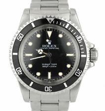 Vintage 1985 Rolex Submariner 5513 GLOSSY SPIDER PATINA 40mm Stainless Watch