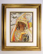 "Soft 1939 Original Pierre Bonnard Color Lithograph ""Girl in a Boat"" FRAMED COA"
