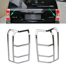 Fit For 07-17 Jeep Patriot Chrome Rear Tail Light Lamp Cover Trim Bezel Garnish