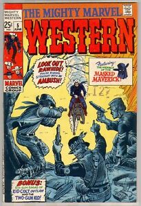1969 THE MIGHTY MARVEL WESTERN  5 RARE SILVER AGE 9.0 VF-NM NN