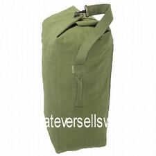 HUGE HEAVY DUTY COTTON CANVAS ARMY KIT BAG for work tool holdall olive