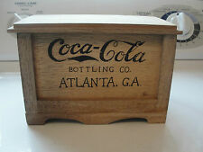 scarce Coca Cola Bottling Co, Atlanta, GA, wooden miniature toy chest style box