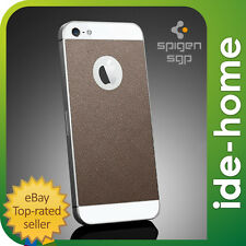 SPIGEN SGP iPhone 5S / 5 Screen Protector x Back Skin Guard Set - Leather Brown