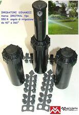 "OFFERTA 3 Irrigatori dinamici POP UP IRRITROL tipo 550R attacco F 3/4"" alzo 12.7"