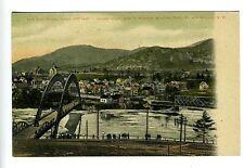 Bellows Falls VT Walpole NH Arch Railroad Bridge Postcard