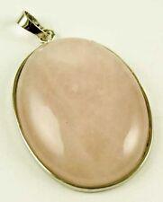Rose Quartz Oval Costume Necklaces & Pendants