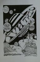 Rare KVHW North Coast Inn Poster Steve Kimock, Arcata 2/5/1999