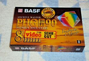 BASF PHG HIFI 90  8mm Camcorder Videokasette  NEU OVP