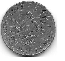 1/2 franc semeuse nickel 1983