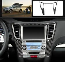 For Subaru outback Legacy 2010-2014 carbon fiber console Navigation panel trim