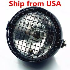 Grill Retro Vintage Side Mount Headlight Lamp Cafe Racer Rat Bike CB GN125 CL CG