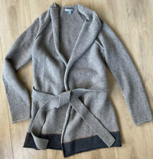 NWOT James Perse SOFT Cardigan Dark Taupe Wool-Alpaca Open Front Sweater Size 1