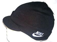 Nike Child Unisex Peak Beanie Hat 340697 010 Black Size M/L