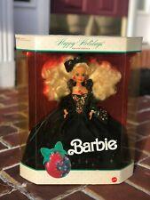 Barbie Mattel Happy Holidays Special Edition 1991 Barbie Doll Christmas Velvet