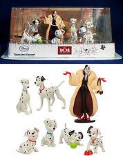 New DISNEY 101 DALMATIANS Figurine Playset 7 Figures CAKE TOPPERS Cruella De Vil