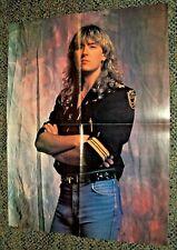 Vintage Def Leppard Joe Elliott 2 Sided Poster * Rock Glam Music Photo
