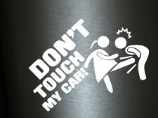 1 x 2 Plott Aufkleber Don't Touch My Car Lady Edition Autoaufkleber Sticker Fun