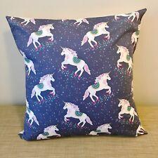 "Kids UNICORN Cushion Pillow Cover. 18"" (45cm). Made Australia"