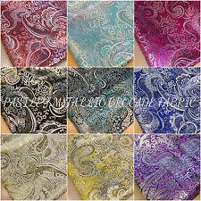 "Paisley Metallic Brocade Fabric 58""wide per metre Jackets and waistcoats"