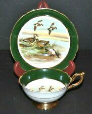Beautiful Vintage Regency, Duck Scene, Fine Bone China Teacup & Saucer