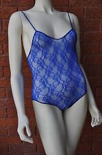 BRAND NEW LINGERIE - BLUE LACE BODY PLAYSUIT - SMALL SIZE- 179 - FREE SHIPPING