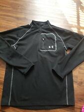 Under Armour 3/4 Zip Pullover Men'S Size Medium Black