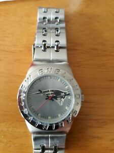 New England Patriots Stainless Steel Watch  New in Box