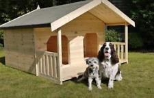 LUXURY DOUBLE DOG KENNEL. SUMMER HOUSE STYLE WITH VERANDAH