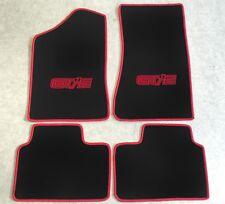 Autoteppich Fußmatten für Opel Manta B Coupe u. CC GT/E schwarz rot Neu 4teilig
