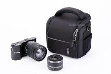 Maletines, bolsas y fundas bandolera negros de nailon para cámaras de vídeo y fotográficas
