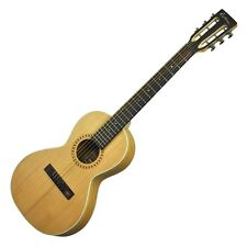 New Martinez Bamboo Parlour Guitar Acoustic Electric with Solid Spruce Top & Bag
