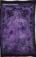 Lord Ganesha Wall Hanging Beautiful Design Cotton Tapestry Poster Indian Hippie