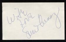 Lucie Arnaz Vintage Signed 3x5 Index Card Autographed From The 1970's
