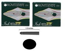 12 Monteverde International Standard Fountain Pen Ink Cartridges - Black