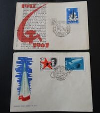 POLAND. 1961-67. Space, Communist October Revolution, KRAKOW, WARSAW FDC