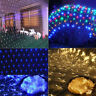 96/200 LED Net Mesh String Fairy Lights Curtain Xmas Wedding Party Outdoor Decor